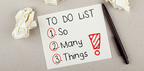To many things on your to do list