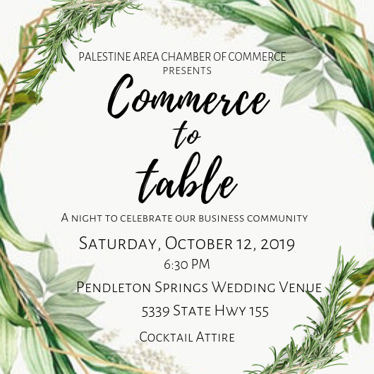 Commerce to Table Graphic