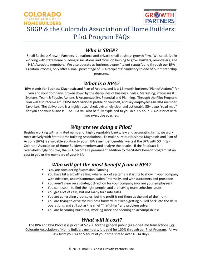 BPA FAQ