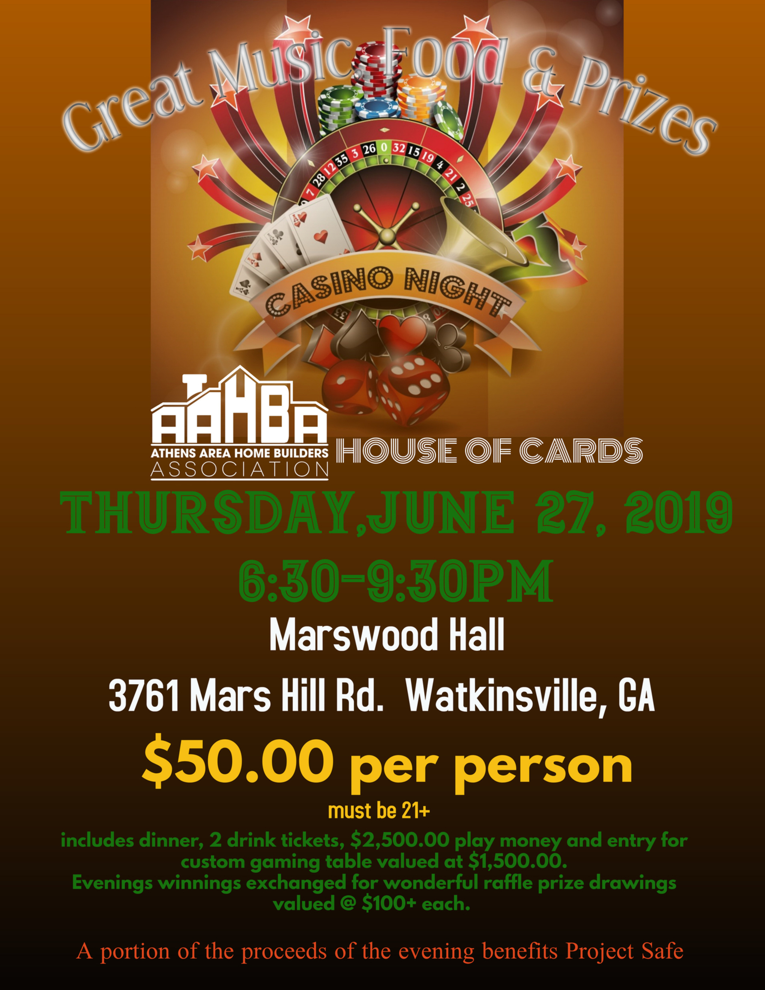 AAHBA House of Cards Casino Night