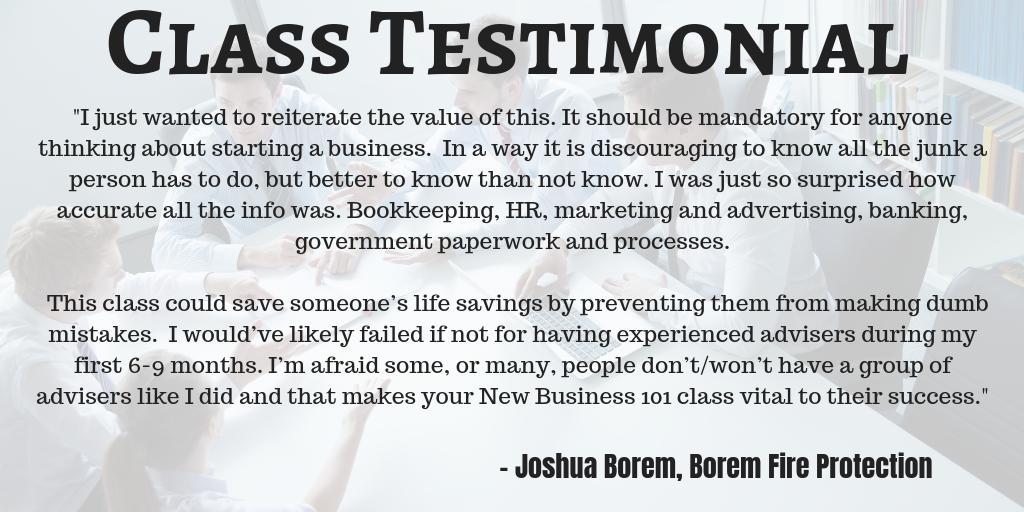 class testimonial