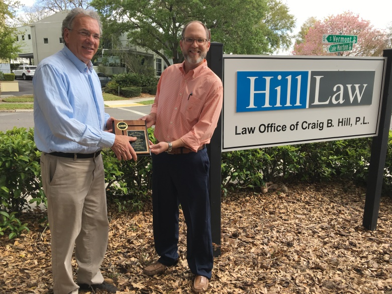 March 2018 Winner, Law Office of Craig B. Hill, P.L.