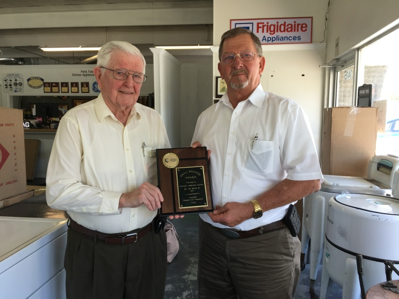 May 2018 Winner, Cannon's Appliance Service