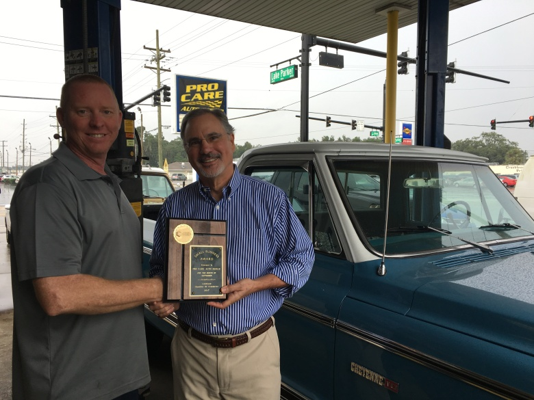 September 2017 Winner, Pro Care Auto Repair