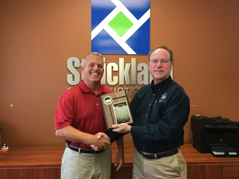 July 2017 Winner, Strickland Construction, Inc.