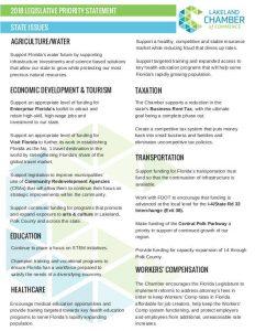 2018 Legislative Priorities