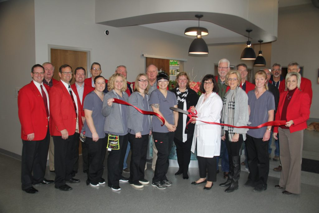Owners Elizabeth McClure, staff and Chamber Ambassadors celebrated the opening of the new location for Boone Veterinary Hospital (2507 Eastgate Drive) with a ribbon cutting on November 4.