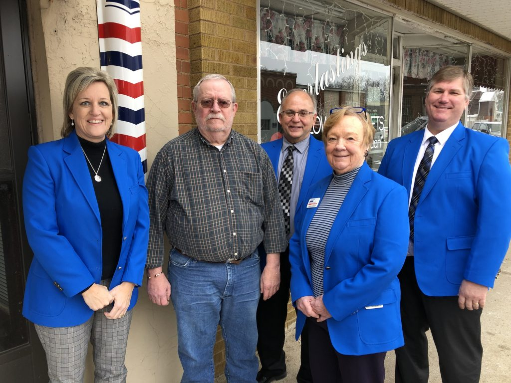 Chamber Ambassadors visited with Cal Hennick, Owner of Cal's Barber Shop (237 W. Walnut Street) during a courtesy call on January 17.