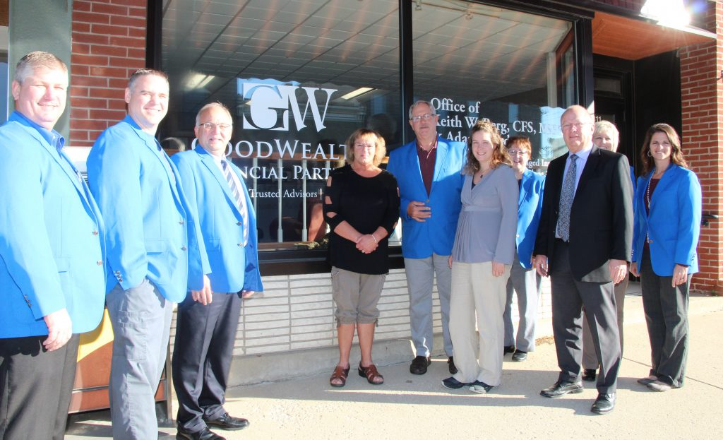 Ogden Ambassadors visited Keith Berg and his staff at GoodWealth Financial Partners (311 W Walnut Street) office during a courtesy call on October 18.