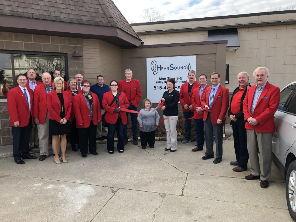 Chamber Ambassadors, Melissa Bartlett, and staff celebrated the opening of Hear Sound, Inc. (428 Story Street) with a ribbon cutting held on March 26.