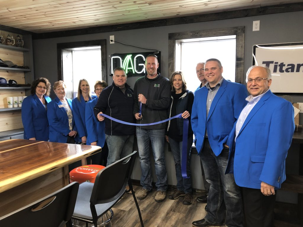 Ogden Ambassadors, Dan Kallem, Brandon Moe and Leanne Samuelson celebrated the opening of DAGS (346 W. Walnut) with a ribbon cutting held on April 18.