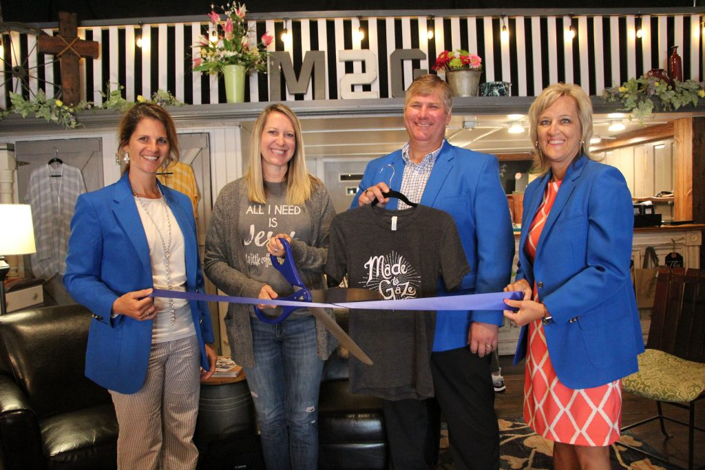 On June 20, the owner Amber of Made to Gaze (325 W. Walnut) along with Ogden Ambassadors celebrate the opening of the store's new location with a ribbon cutting.