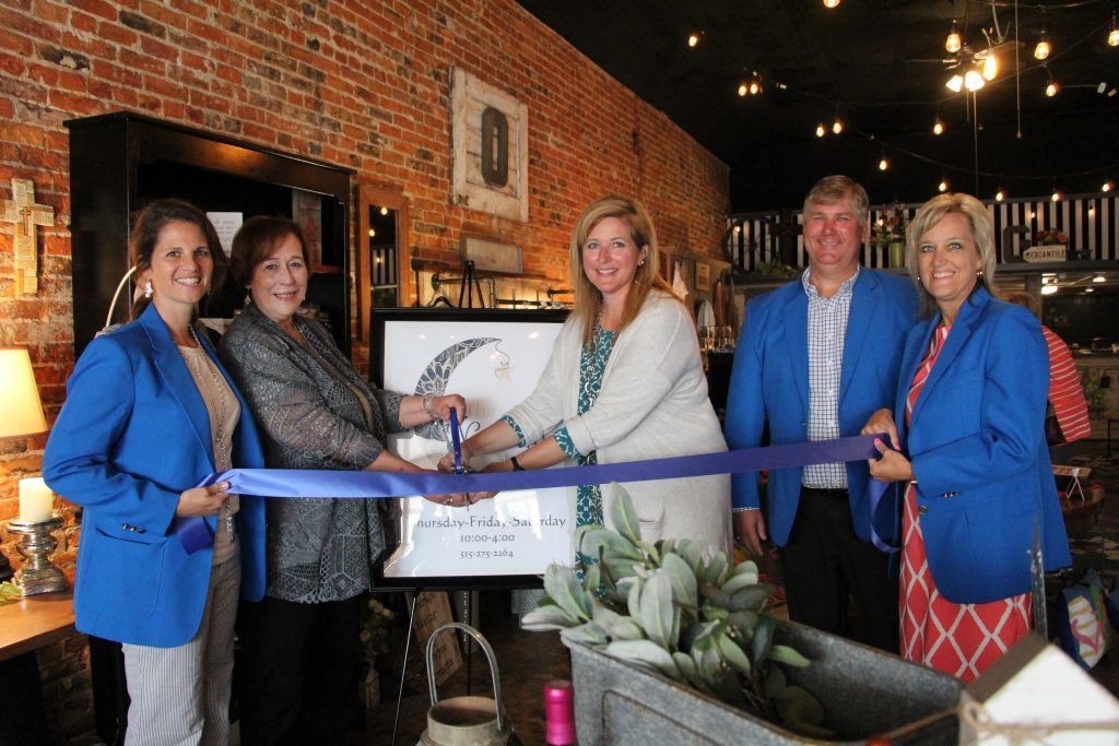 On June 20, Ogden Ambassadors along with Deb & Carol, owners of The New Moon celebrated the grand opening of the new store (325 W. Walnut) with a ribbon cutting.