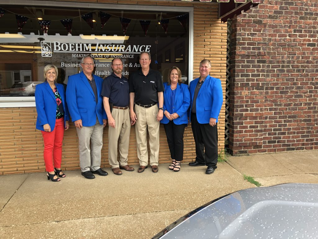 On July 18, Ogden Ambassadors hosted a courtesy call with the management and staff of Boehm Insurance (229 W. Walnut Street).