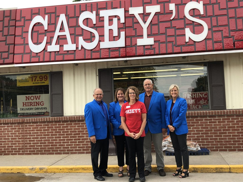 Ogden Ambassadors hosted a courtesy call with Lisa, manager of Casey's (102 W. Veterans Drive) on July 15.