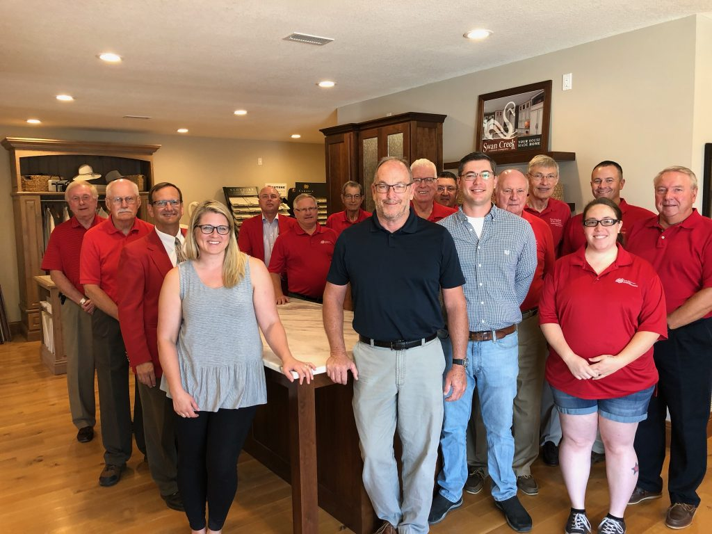 On August 6, Chamber Ambassadors hosted a courtesy call with management at Swan Creek Cabinet Company (2323 Mamie Eisenhower Avenue).