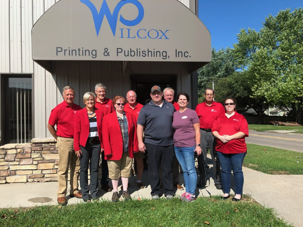 On August 20 Chamber Ambassadors hosted a courtesy call with Ken & Jennifer Williams, owners of Wilcox Printing (102 S Main Street - Madrid).