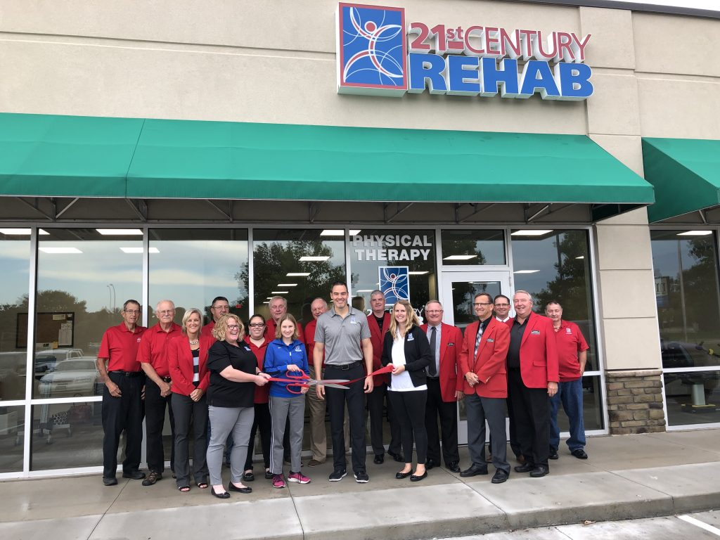 On September 10, Chamber Ambassadors along with management and staff of 21st Century Rehab (1504 S. Story Street, Suite #6) celebrated the opening of their new facility with a ribbon cutting.