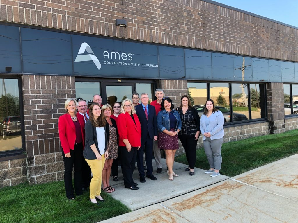 Chamber Ambassadors hosted a courtesy call with Kevin Bourke, President & CEO and staff of Ames Convention &  Visitors Bureau (1601 Golden Aspen Drive, Suite 110) on September 24.