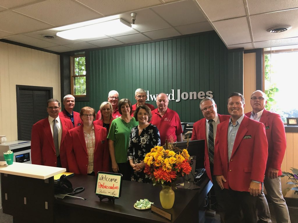 Chamber Ambassadors hosted a courtesy call with staff of Edward Jones  - Shellie Grabau (806 7th Street) on September 19.