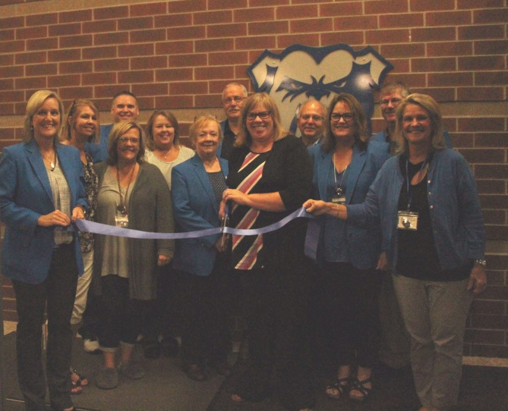 On September 19, Ogden Ambassadors, Principal; Amy Krause and staff gathered at Ogden Elementary (307 SE 2nd Street) for a ribbon cutting to celebrate their remodeled facility.