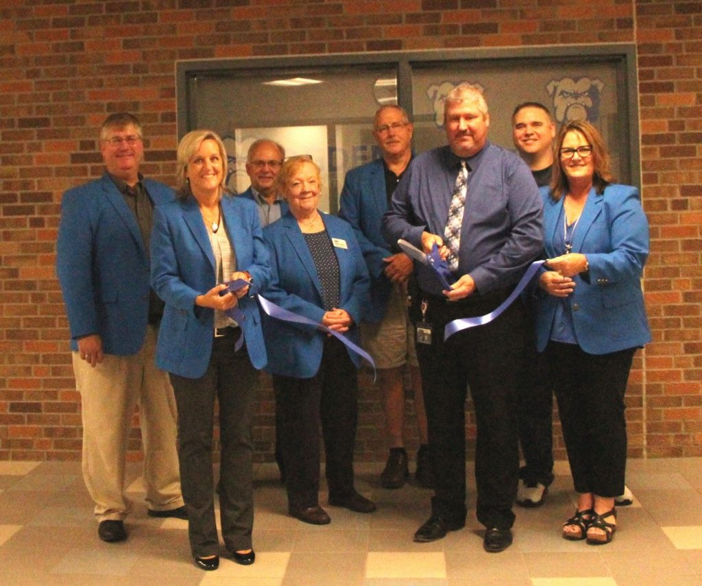 Ogden Ambassadors celebrated the remodel with High School Principal, Maury Ruble and Superintendent, Pam Dodge on September 19.