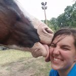 Amy Nelson and her horse Bob, one of the #HorseKisses contest co-winners.