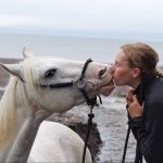 Ada Draghici and her partner, Kai, one of the #HorseKisses contest co-winners.
