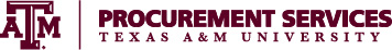 Texas A&M University Procurement Services logo