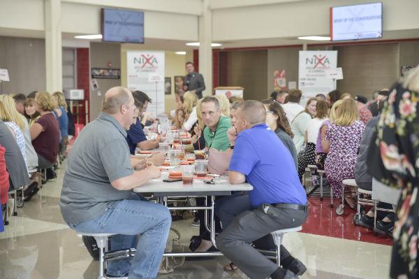 new teacher luncheon tables