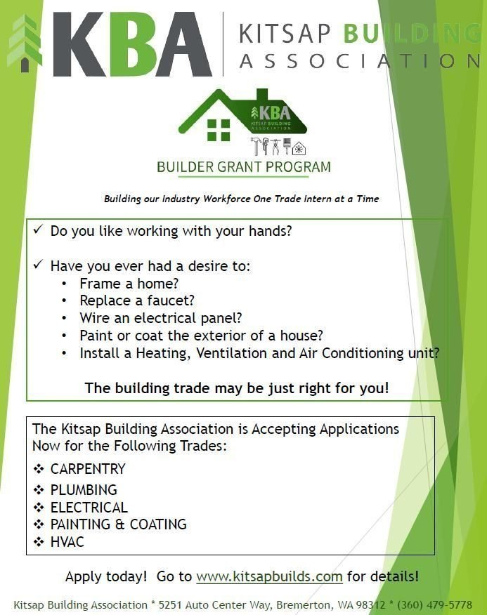 Builder Grant Program flyer