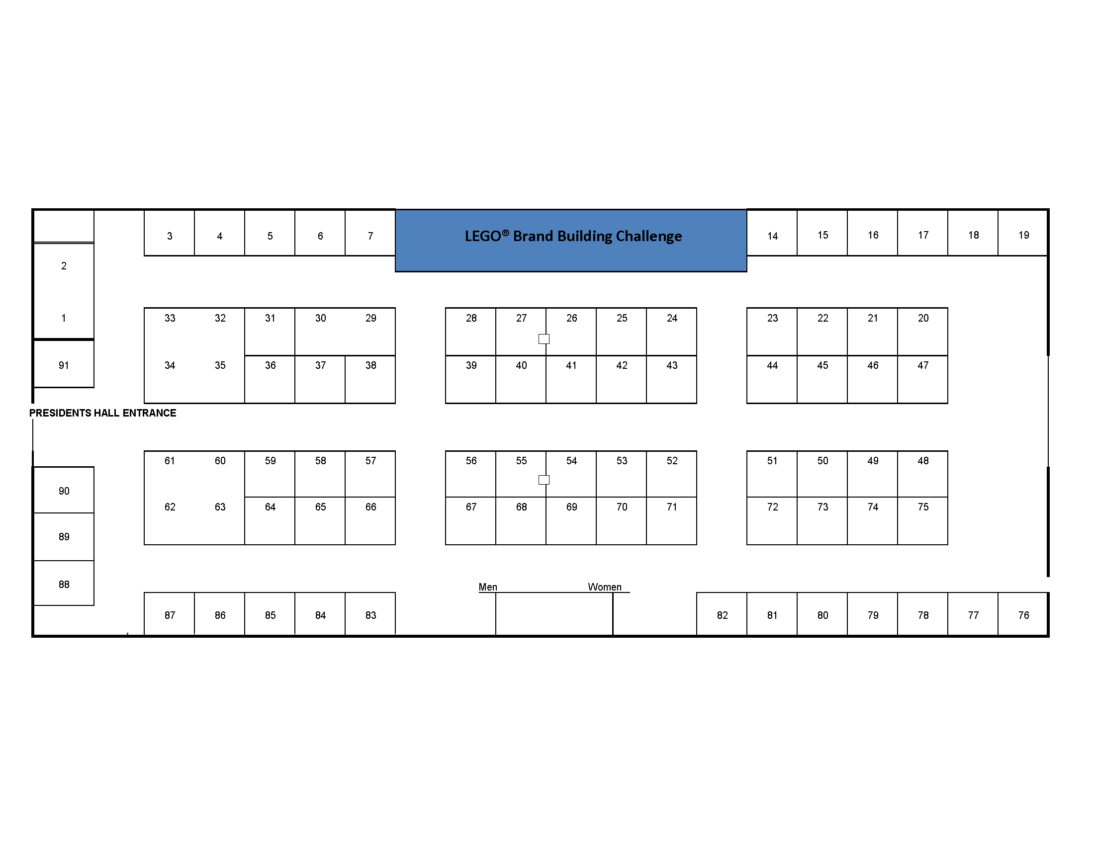 Presidents' Hall Floor Plan 2019 Expo Guide