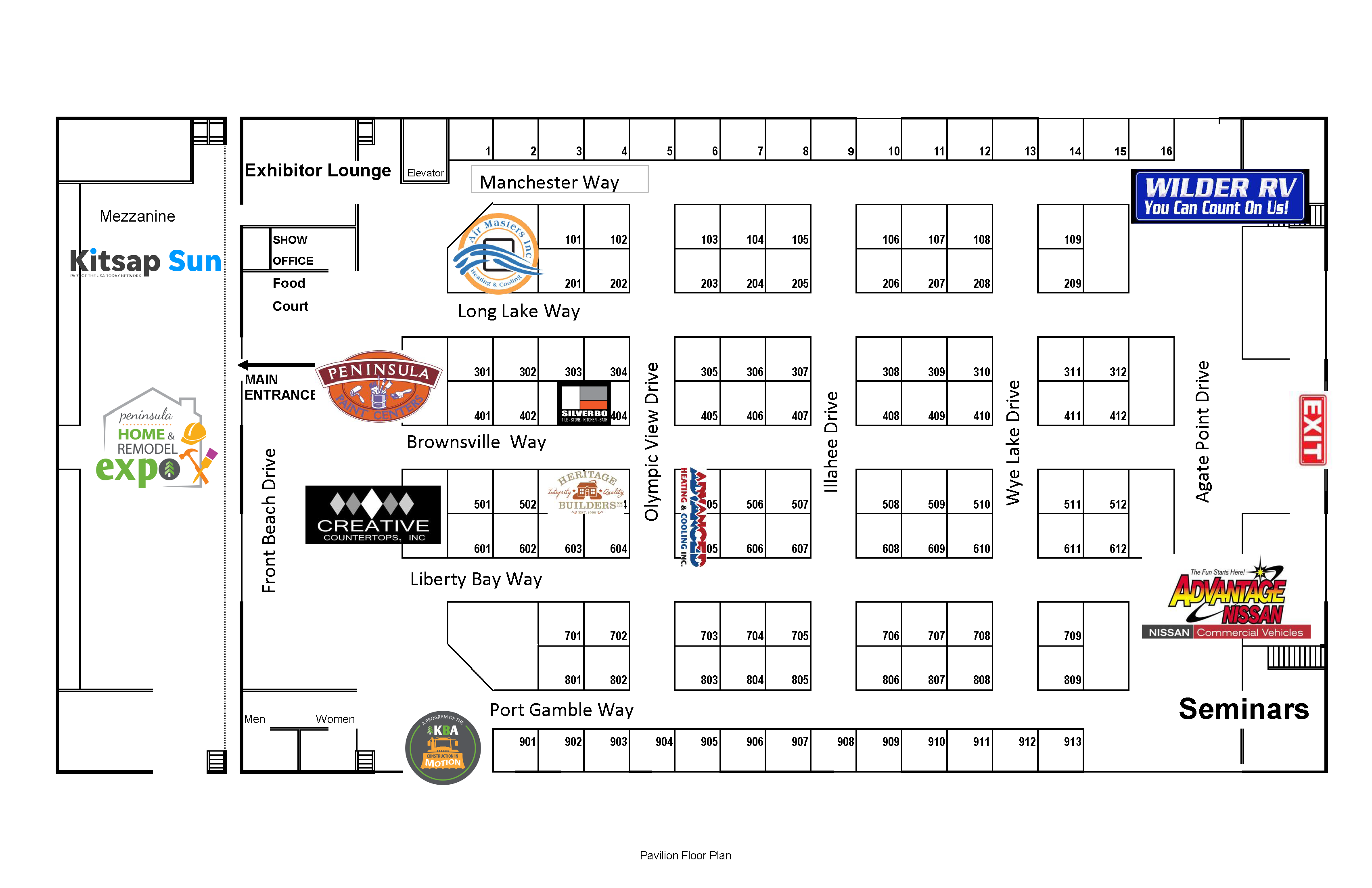 Floor Plan - Pavilion fall 2019 w sponsors bw