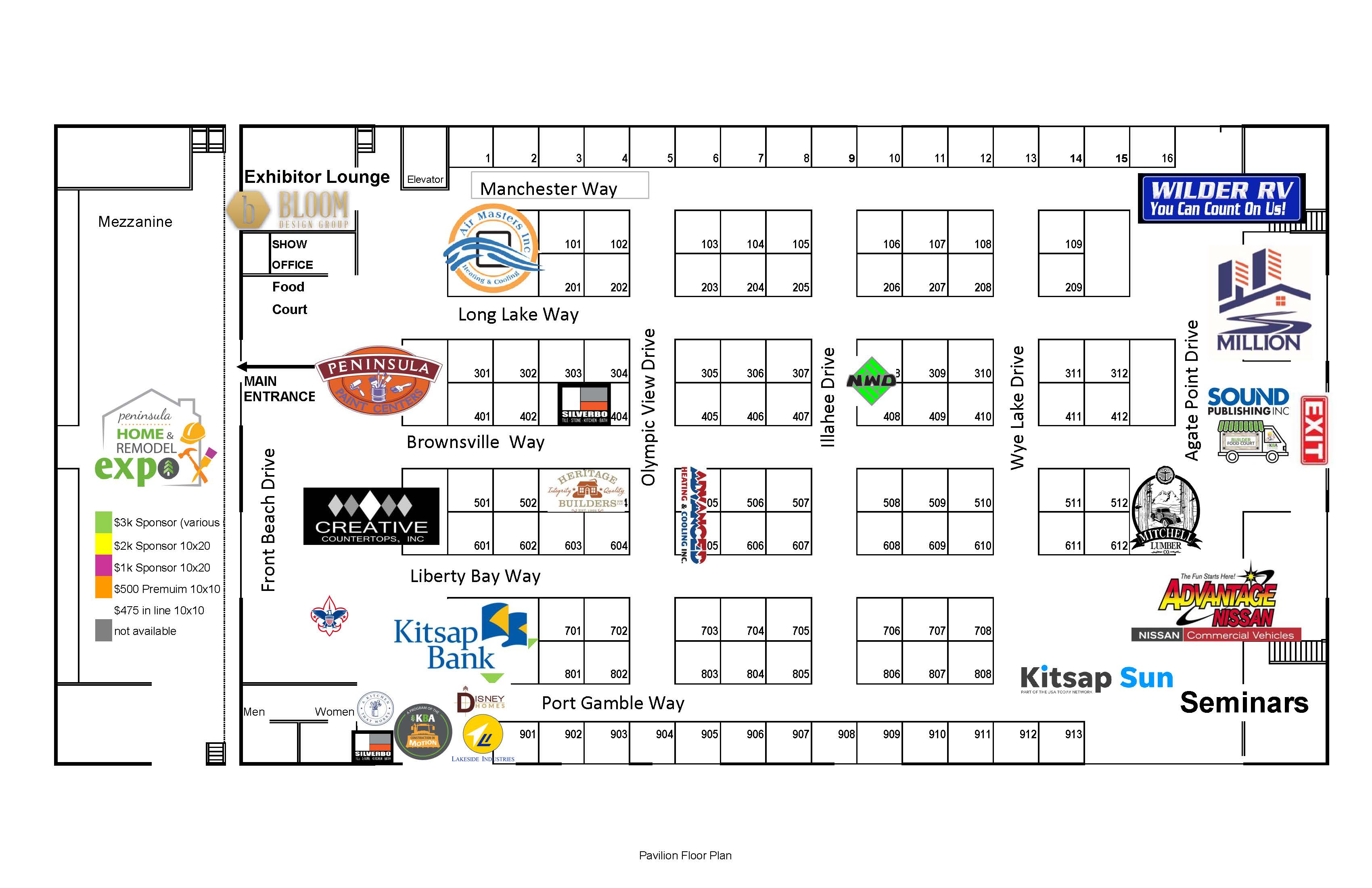Floor Plan - Pavilion fall 2019 w sponsors bw 8.12