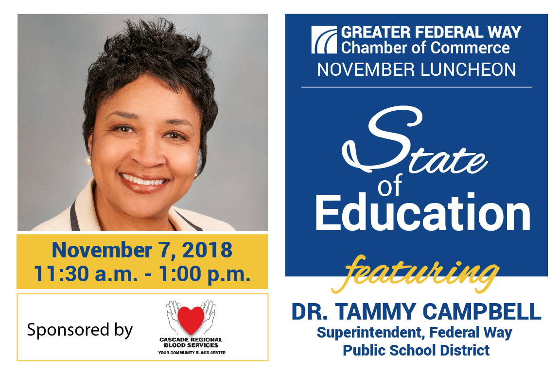November 2019 Luncheon with Superintendent Dr. Tammy Campbel