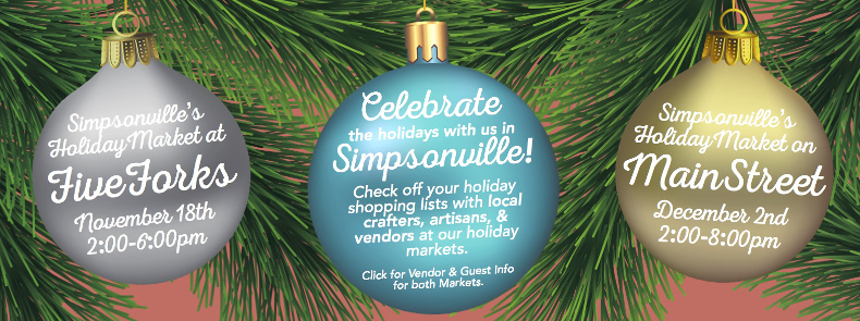 Celebrate the holidays with us in Simpsonville