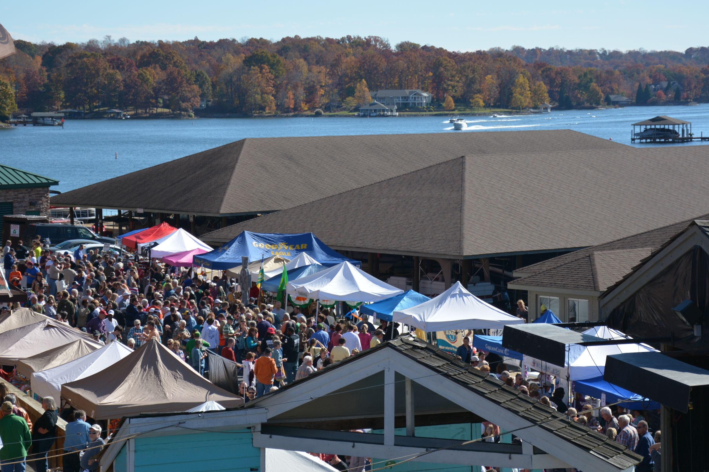 Chili Festival facing lake