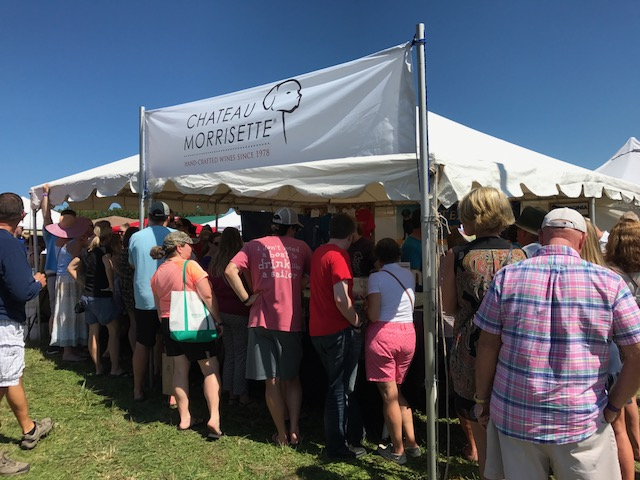 crowd at wine festival