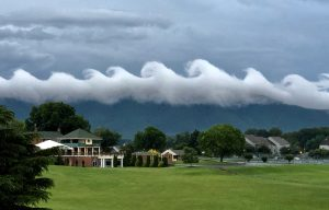 """Second Place: """"Wavy Clouds over Bernard's Landing"""" by Amy Hunter"""