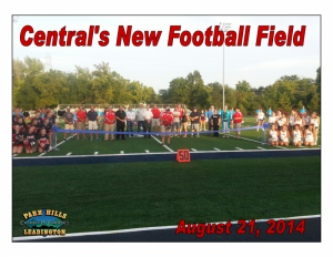 Central's New Football Field