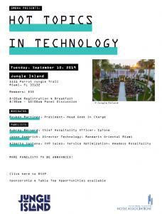 GMBHA Technology Panel at Jungle Island 9.10.2019