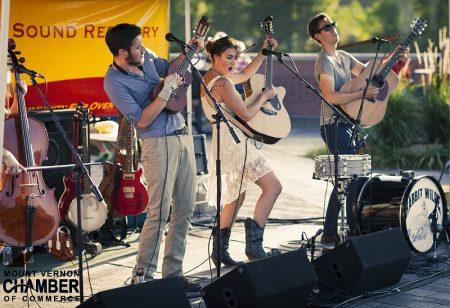 Band playing at Riverwalk Summer Concert Series