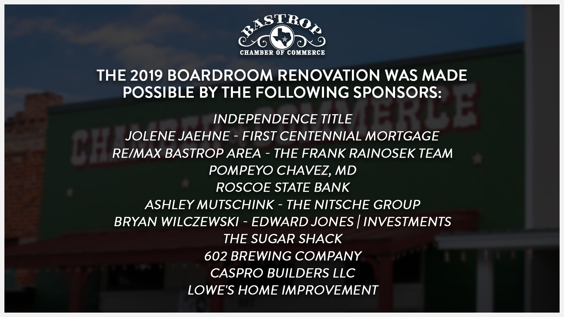 2019 Board Room Renovation