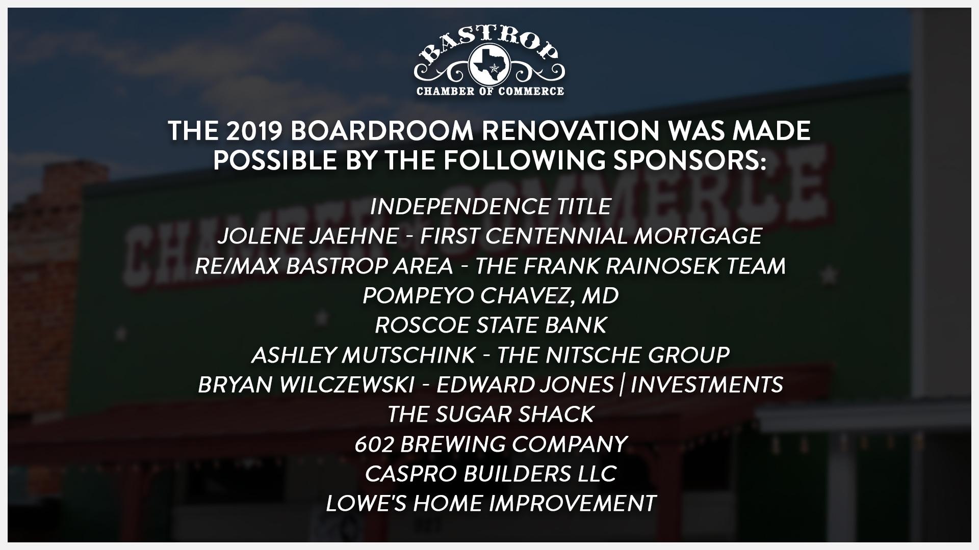 2019 Board Room Renovation