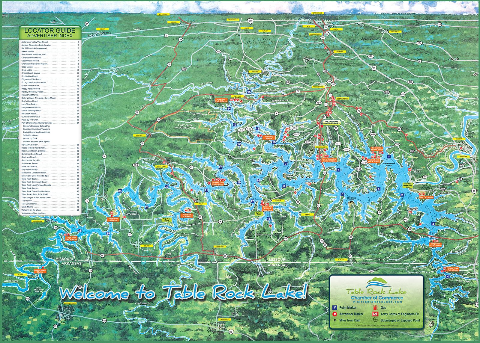 Lake Map - Table Rock Lake Chamber of Commerce