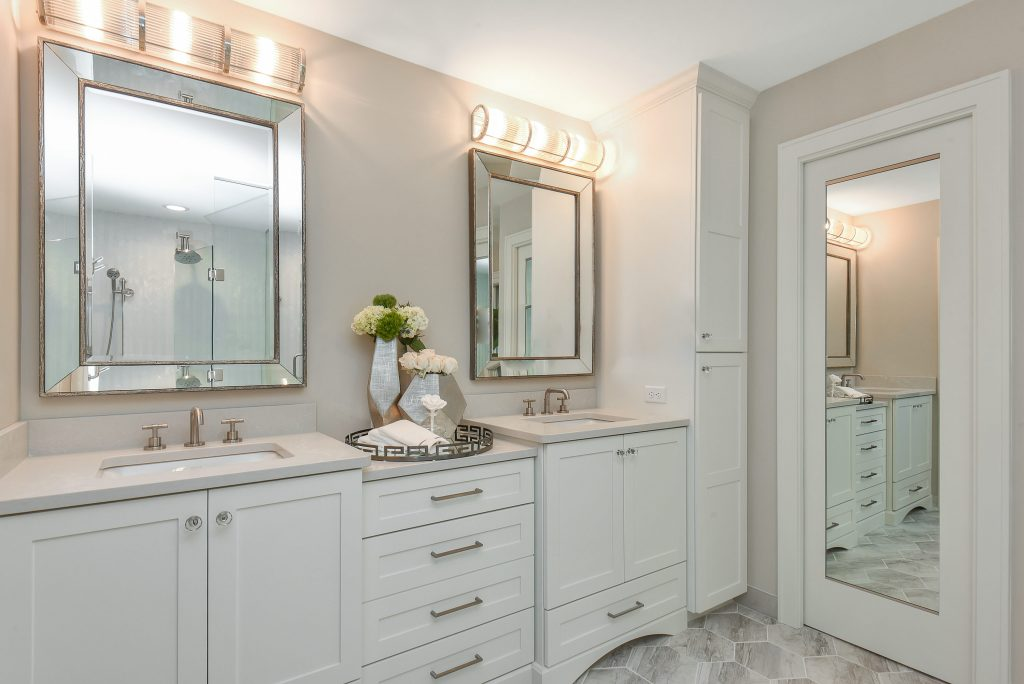 Bathroom remodel featuring cabinetry