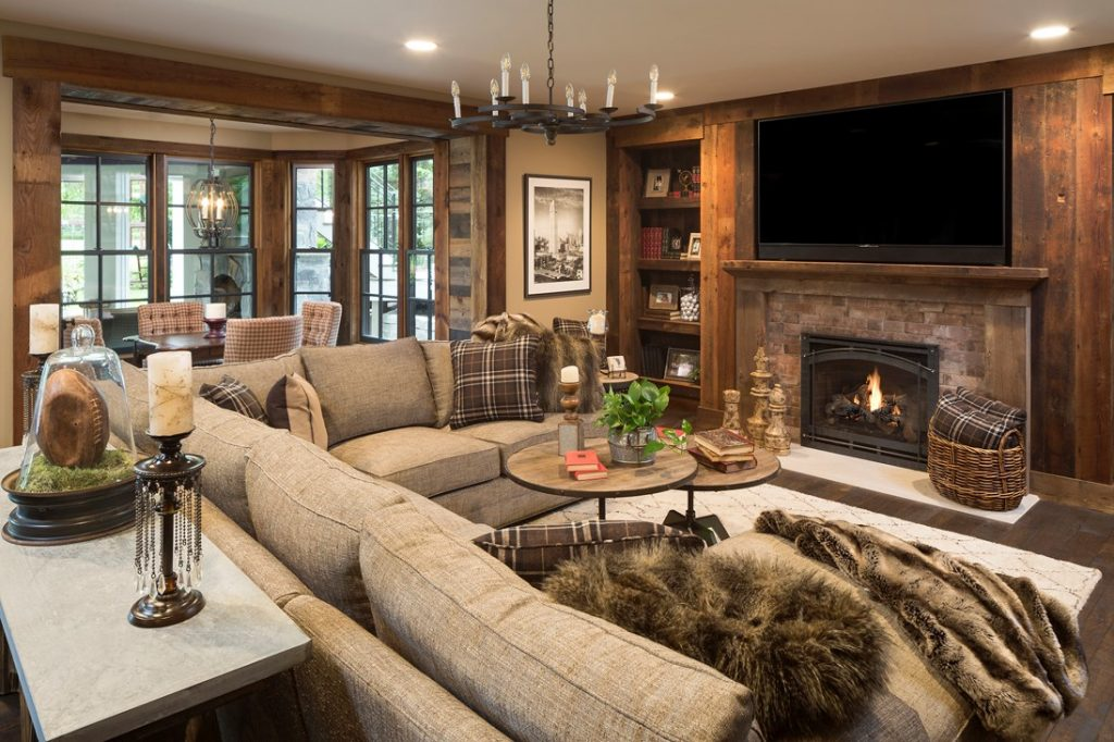 Family room remdel featuring fireplace