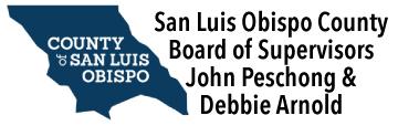 San Luis Obispot County Board of Supervisors John Peschong and Debbie Arnold